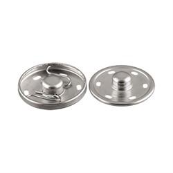 Кнопки пришивные  металлические никель  d 16 мм  10 шт.