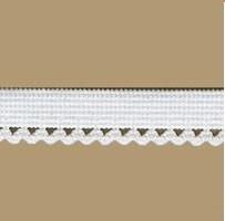 Лента эластичная с абажурным зиг-загом 10 мм белая 1м