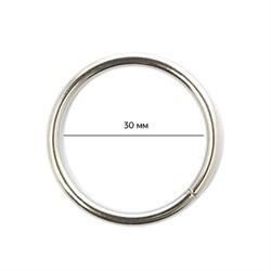 Кольцо металлическое  30х3 мм цв. никель 1 шт.