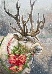 """Набор для вышивания """"Рождественский олень"""" 15х22 см"""