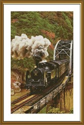 """Набор для вышивания  """"Поезд в горах"""" 28х46 см"""