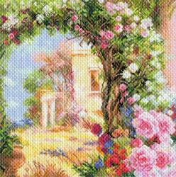 "Рисунок на канве  ""Греция в цвету"" 41х41 см  ""Матренин Посад"""