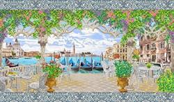 "Рисунок на канве ""Красота Венеции"" 48 х77 см  ""Благовест"""