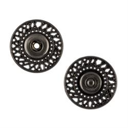 Кнопка пришивная металлическая d 25 мм под черный никель 1 шт.