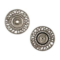 Кнопка пришивная металлическая d 25 мм под  никель 1 шт.