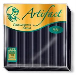"""Полимерная глина """"Артефакт"""" цвет черный 56 г  1 уп."""