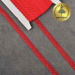 Кружево-трикотаж 10 мм цвет 03 красный 1 м