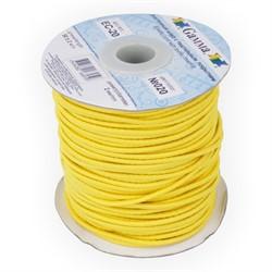 Шнур  эластичный 2 мм  020 желтый 1м