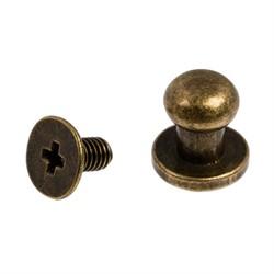 Кнопка кобурная металлическая d-8 мм под бронзу 1 шт.