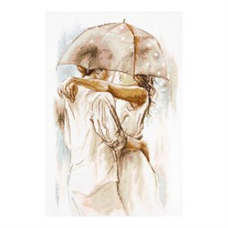 """Набор для вышивания """"Под зонтом"""" 24х37 см 'Luca-S'"""