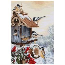 """Набор для вышивания """"Птичий домик"""" 25,5*38 см  'Luca-S'"""