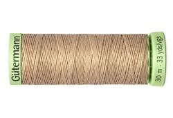 Нить Top Stitch отделочная, 30 м, 100% п/э,  цвет: 170 кэмел , 1 кат.