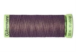 Нить Top Stitch отделочная, 30 м, 100% п/э,  цвет: 127 т. серо-сиреневый, 1 кат.