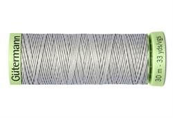 Нить Top Stitch отделочная, 30 м, 100% п/э,  цвет: 038 светло-серый, 1 кат.