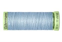 Нить Top Stitch отделочная, 30 м, 100% п/э,  цвет: 075 бледно-джинсовый, 1 кат.
