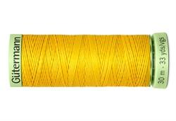 Нить Top Stitch отделочная, 30 м, 100% п/э,  цвет: 106 темно-желтый, 1 кат.