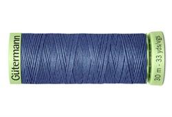 Нить Top Stitch отделочная, 30 м, 100% п/э,  цвет: 112 серо-синий джинс, 1 кат.