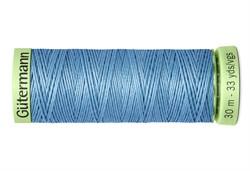 Нить Top Stitch отделочная, 30 м, 100% п/э,  цвет: 143 серо-голубой, 1 кат.
