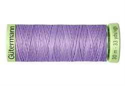 Нить Top Stitch отделочная, 30 м, 100% п/э,  цвет: 158 св. сиреневый, 1 кат.