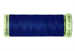 Нить Top Stitch отделочная, 30 м, 100% п/э, цвет: 232 кобальт, 1 кат.