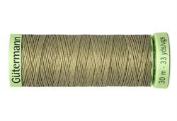 Нить Top Stitch отделочная, 30 м, 100% п/э, цвет: 258 умеренно-болотный 1 кат.