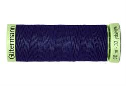 Нить Top Stitch отделочная, 30 м, 100% п/э, цвет: 310 темно-чернильный 1 кат.