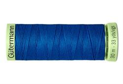 Нить Top Stitch отделочная, 30 м, 100% п/э, цвет: 322 синяя бирюза  1 кат.