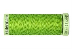 Нить Top Stitch отделочная, 30 м, 100% п/э, цвет: 336 лаймовый 1 кат.