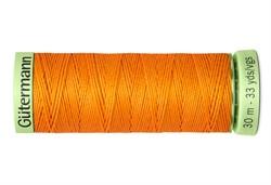 Нить Top Stitch отделочная, 30 м, 100% п/э, цвет: 350 св.оранжевый 1 кат.