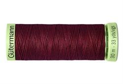 Нить Top Stitch отделочная, 30 м, 100% п/э, цвет: 369 винный 1 кат.