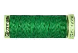 Нить Top Stitch отделочная, 30 м, 100% п/э, цвет: 396 ярко-зеленый 1 кат.