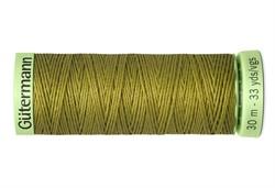 Нить Top Stitch отделочная, 30 м, 100% п/э, цвет: 397 темно-горчичный 1 кат.