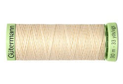 Нить Top Stitch отделочная, 30 м, 100% п/э, цвет: 414 св.кремово-бежевый  1 кат.