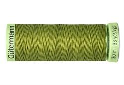 Нить Top Stitch отделочная, 30 м, 100% п/э, цвет:582 зеленая горчица  1 кат.