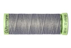 Нить Top Stitch отделочная, 30 м, 100% п/э, цвет:634 пепельно серовато-зеленый  1 кат.