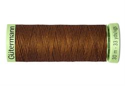 Нить Top Stitch отделочная, 30 м, 100% п/э, цвет: 650 золотисто-каштановый  1 кат.