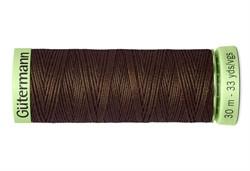 Нить Top Stitch отделочная, 30 м, 100% п/э, цвет: 694 кофейный  1 кат.