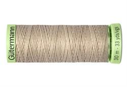 Нить Top Stitch отделочная, 30 м, 100% п/э, цвет: 722 светло-бежевый 1 кат.