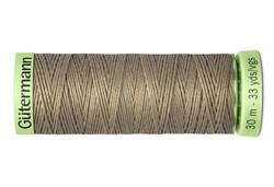 Нить Top Stitch отделочная, 30 м, 100% п/э, цвет: 724 бледно серо-коричневый 1 кат.