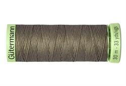 Нить Top Stitch отделочная, 30 м, 100% п/э, цвет: 727 дымчато серо-зеленый 1 кат.