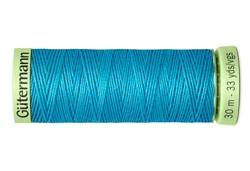 Нить Top Stitch отделочная, 30 м, 100% п/э, цвет: 736 голубая лагуна 1 кат.