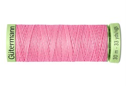 Нить Top Stitch отделочная, 30 м, 100% п/э, цвет: 758 розовый 1 кат.