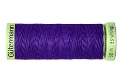 Нить Top Stitch отделочная, 30 м, 100% п/э, цвет: 810 яркий василек 1 кат.