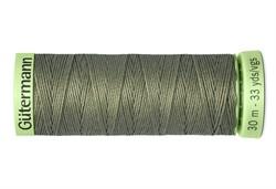 Нить Top Stitch отделочная, 30 м, 100% п/э, цвет: 824 зеленый камуфляж 1 кат.