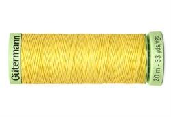 Нить Top Stitch отделочная, 30 м, 100% п/э, цвет: 852 желтый 1 кат.
