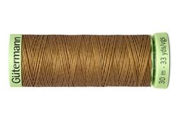 Нить Top Stitch отделочная, 30 м, 100% п/э, цвет: 887 бежево-горчичный 1 кат.