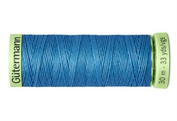 Нить Top Stitch отделочная, 30 м, 100% п/э, цвет: 965 дымчато серо-голубой 1 кат.