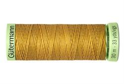 Нить Top Stitch отделочная, 30 м, 100% п/э, цвет: 968 золотой 1 кат.