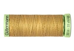 Нить Top Stitch отделочная, 30 м, 100% п/э, цвет: 893 бежево-желтый 1 кат.