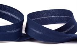 Косая бейка Х/Б ширина 30 мм,  052 синий 1м